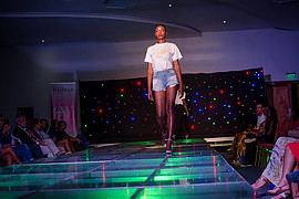 Hellen Mwanzia model. Photoshoot of model Hellen Mwanzia demonstrating Runway Modeling.Runway Modeling Photo #214611