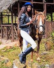 Hellen Mwanzia model. Photoshoot of model Hellen Mwanzia demonstrating Fashion Modeling.Fashion Modeling Photo #214621