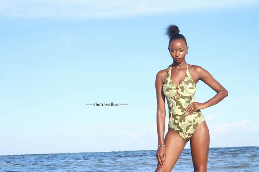 Hellen Mwanzia model. Photoshoot of model Hellen Mwanzia demonstrating Body Modeling.Body Modeling Photo #214625