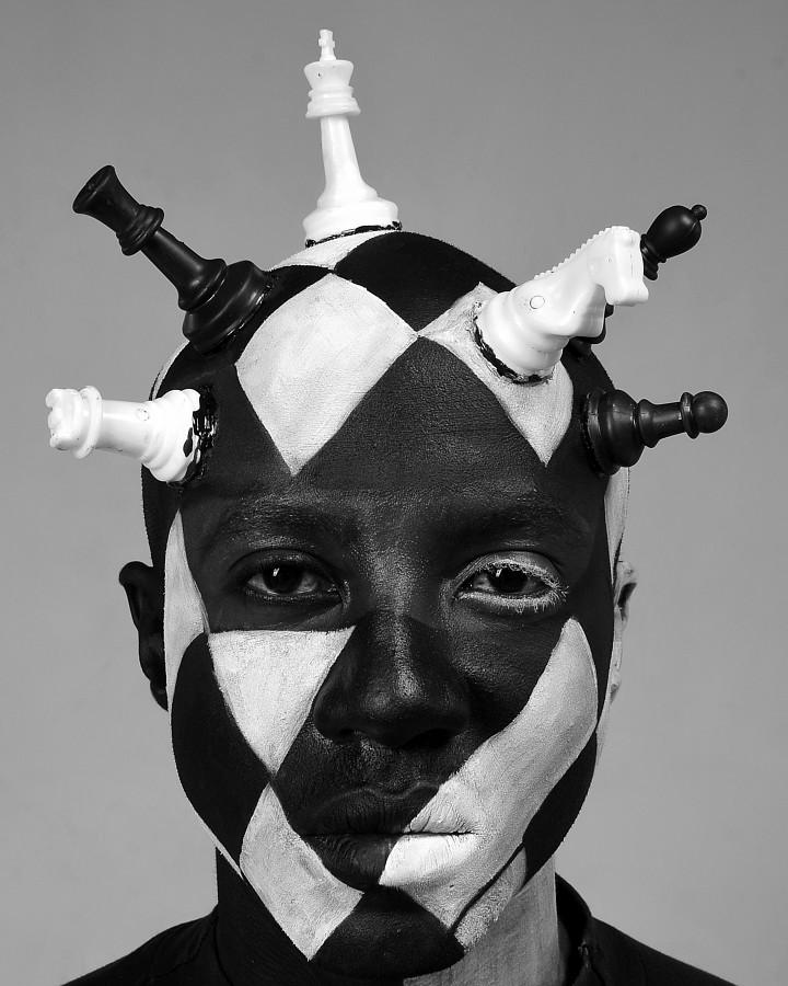 Hezy Gitobu makeup artist. Work by makeup artist Hezy Gitobu demonstrating Creative Makeup in a photoshoot of Calvin Majau.model:Calvin MajauCreative Makeup Photo #230206