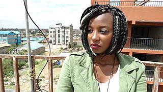 Hilda Mbugua model. Photoshoot of model Hilda Mbugua demonstrating Face Modeling.Braids,Eyebrow ExtensionsFace Modeling Photo #177194