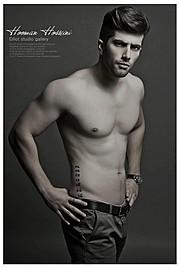 Hooman Hosseini model. Photoshoot of model Hooman Hosseini demonstrating Body Modeling.Body Modeling Photo #111053
