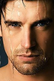Hugo Salmon model (modèle). Photoshoot of model Hugo Salmon demonstrating Face Modeling.Face Modeling Photo #108858