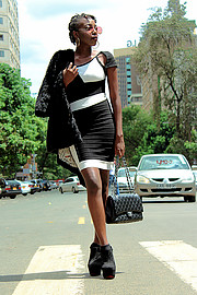 Ian Kiplimo photographer. Photoshoot of model Gail Wangari demonstrating Fashion Modeling.photographer: Ian Kiplimomodel : Gail Wangarilocation: Nairobi CBDFashion Photography,Fashion Modeling Photo #181149