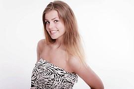 Ida Nykaas model (modell). Photoshoot of model Ida Nykaas demonstrating Face Modeling.Face Modeling Photo #85164