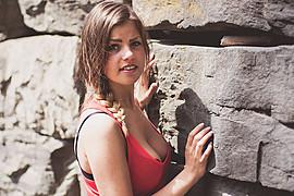 Ida Nykaas model (modell). Photoshoot of model Ida Nykaas demonstrating Face Modeling.Face Modeling Photo #85169
