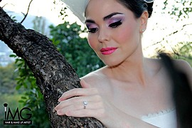 Idalia Martinez makeup artist. Work by makeup artist Idalia Martinez demonstrating Bridal Makeup.Bridal Makeup Photo #81922