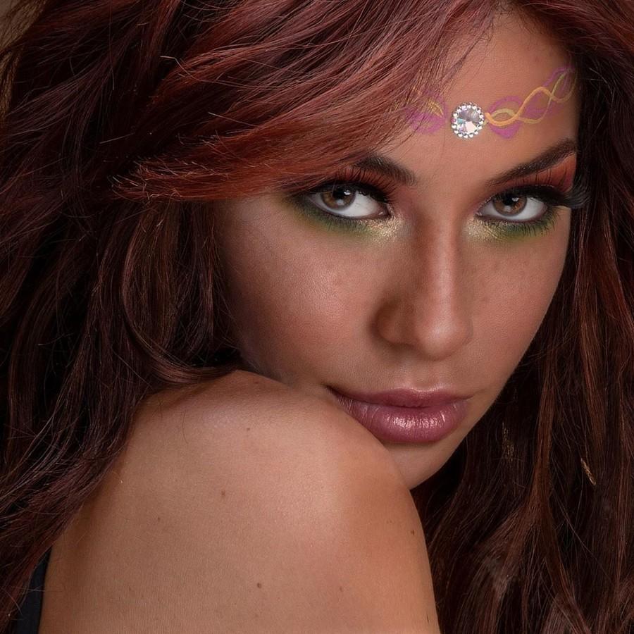 Irene Sterianou model (Ειρήνη Στεριανού μοντέλο). Photoshoot of model Irene Sterianou demonstrating Face Modeling.Face Modeling Photo #227367