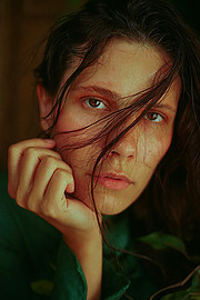 Irina Krupneva model. Photoshoot of model Irina Krupneva demonstrating Face Modeling.Face Modeling Photo #205859