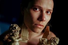 Irina Krupneva model. Photoshoot of model Irina Krupneva demonstrating Face Modeling.Face Modeling Photo #205860
