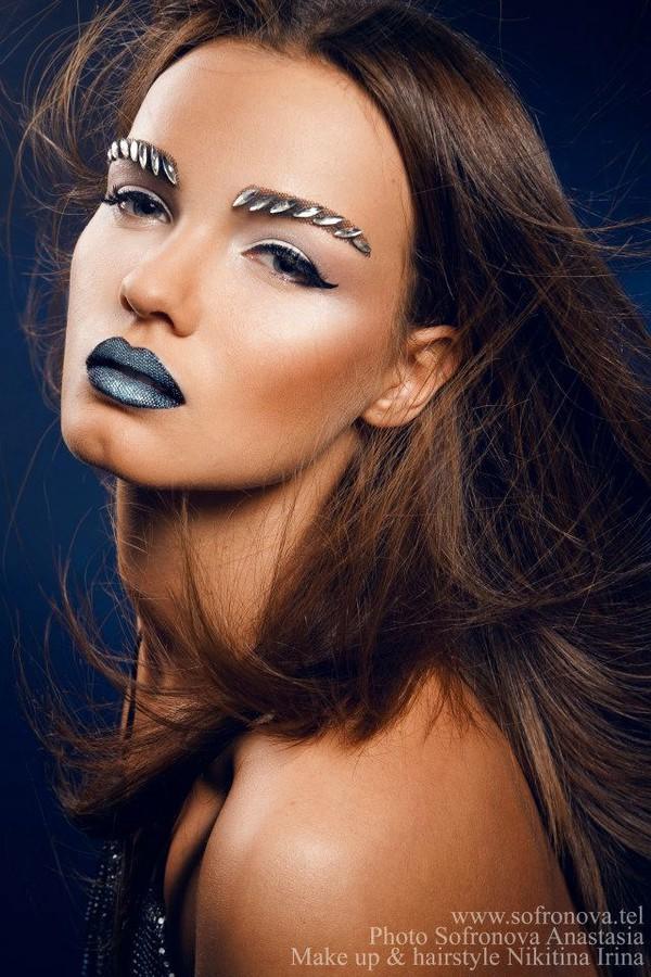 Irina Nikitina makeup artist & model (визажист & модель). Work by makeup artist Irina Nikitina demonstrating Beauty Makeup.Eyebrow ExtensionsBeauty Makeup Photo #68974