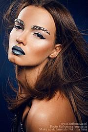 Irina Nikitina makeup artist & model (визажист & модель). Work by makeup artist Irina Nikitina demonstrating Beauty Makeup.Beauty Makeup Photo #68977