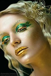 Irina Nikitina makeup artist & model (визажист & модель). Work by makeup artist Irina Nikitina demonstrating Creative Makeup.Eyelash ExtensionsCreative Makeup Photo #68984