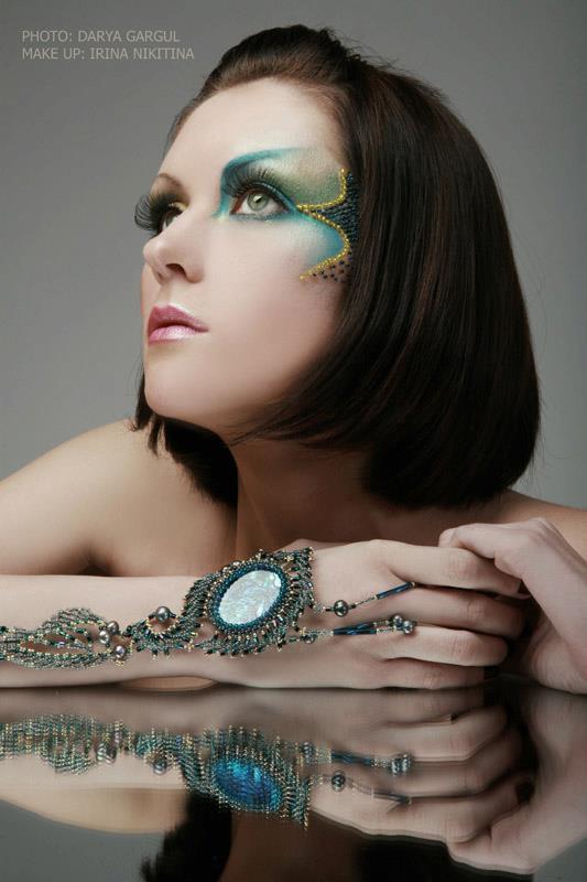 Irina Nikitina makeup artist & model (визажист & модель). Work by makeup artist Irina Nikitina demonstrating Creative Makeup.Creative Makeup Photo #68991