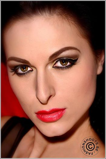 Ivana Cermakova (Ivana Čermáková) model & dancer. Photoshoot of model Ivana Cermakova demonstrating Face Modeling.Face Modeling Photo #89059