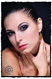 Ivana Cermakova (Ivana Čermáková) model & dancer. Photoshoot of model Ivana Cermakova demonstrating Face Modeling.EarringsFace Modeling Photo #89067