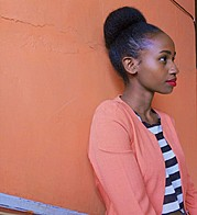 Jacinta Mungai model. Photoshoot of model Jacinta Mungai demonstrating Face Modeling.Face Modeling Photo #183600