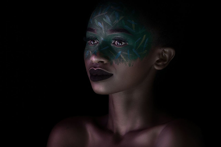 Jacinta Mungai model. Photoshoot of model Jacinta Mungai demonstrating Face Modeling.Portrait Photography,Face Modeling,Creative Makeup Photo #186989