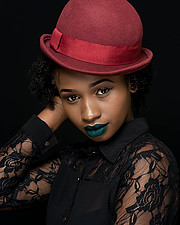 Jacinta Mungai model. Photoshoot of model Jacinta Mungai demonstrating Face Modeling.Face Modeling Photo #201847