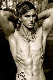 Jack Grace model. Photoshoot of model Jack Grace demonstrating Body Modeling.FitnessBody Modeling Photo #78422