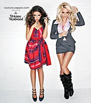 James Hickey fashion photographer. Work by photographer James Hickey demonstrating Fashion Photography.US Vogue Sept 2010Client: Zappos and Vivienne WestwoodModels: Pamela Anderson and Almudena FernandezLocation: James LA photo studioFashion Photog
