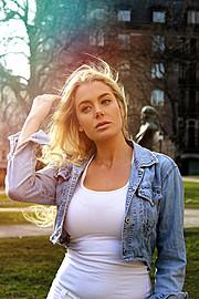 Jamie Sallmen (Jamie Sallmén) model. Photoshoot of model Jamie Sallmen demonstrating Face Modeling.Face Modeling Photo #102407