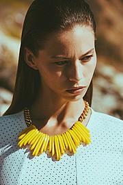 Janaina Reis model (modelo). Photoshoot of model Janaina Reis demonstrating Face Modeling.NecklaceFace Modeling Photo #113590