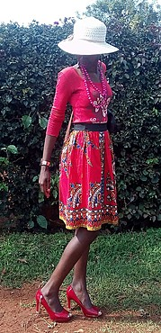 Jane Njeri model. Photoshoot of model Jane Njeri demonstrating Fashion Modeling.Very cheap clothes and simple lady I am...just tried to match themHatFashion Modeling Photo #187387