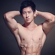 Jason Chee fitness model. Photoshoot of model Jason Chee demonstrating Face Modeling.Face Modeling Photo #103473
