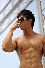 Jason Chee fitness model. Photoshoot of model Jason Chee demonstrating Body Modeling.Body Modeling Photo #103475