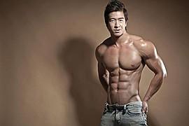 Jason Chee fitness model. Photoshoot of model Jason Chee demonstrating Body Modeling.Body Modeling Photo #103476