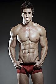 Jason Chee fitness model. Photoshoot of model Jason Chee demonstrating Body Modeling.Body Modeling Photo #103477
