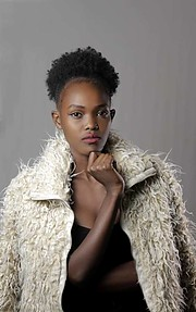 Jecci Kimani model. Photoshoot of model Jecci Kimani demonstrating Face Modeling.Face Modeling Photo #224874