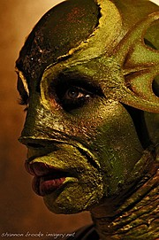 Jennifer Corona makeup artist. Work by makeup artist Jennifer Corona demonstrating Special Fx Makeup in a photoshoot by Shannon Brooke.The Creatures hot mate Shayna the Swamp Queen. Photographer Shannon BrookeMakeup: Jennifer Corona===Makeup Techni