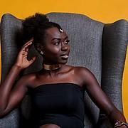 Joan Mokoro model. Photoshoot of model Joan Mokoro demonstrating Face Modeling.Sun africa studiosFace Modeling Photo #205306
