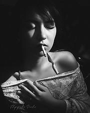 Joanna Albani model (μοντέλο). Photoshoot of model Joanna Albani demonstrating Face Modeling.Face Modeling Photo #211415
