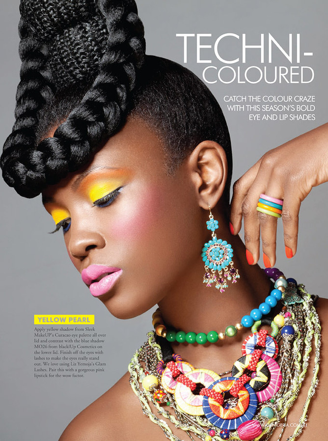 Joy Adenuga makeup artist. Work by makeup artist Joy Adenuga demonstrating Fashion Makeup.Latoya MilesEarrings,NecklaceFashion Makeup Photo #62540