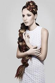 Judit Moya model. Photoshoot of model Judit Moya demonstrating Face Modeling.BraidsFace Modeling Photo #113759