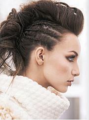 Judit Moya model. Photoshoot of model Judit Moya demonstrating Face Modeling.BraidsFace Modeling Photo #113761