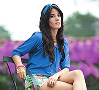 Julia Iris Ayala model. Photoshoot of model Julia Iris Ayala demonstrating Face Modeling.Face Modeling Photo #119861