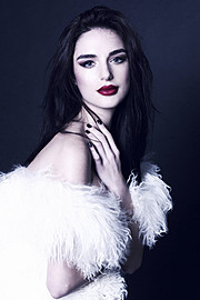Julia Zakharova model & painter. Photoshoot of model Julia Zakharova demonstrating Face Modeling.Face Modeling Photo #118171