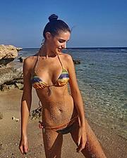 Julia Zakharova model & painter. Photoshoot of model Julia Zakharova demonstrating Body Modeling.Body Modeling Photo #178614