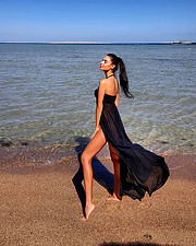Julia Zakharova model & painter. Photoshoot of model Julia Zakharova demonstrating Fashion Modeling.Fashion Modeling Photo #199107