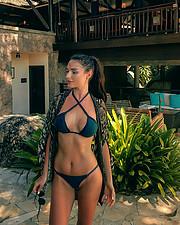 Julia Zakharova model & painter. Photoshoot of model Julia Zakharova demonstrating Body Modeling.Body Modeling Photo #208186