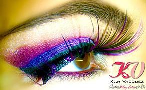 Kah Vazquez makeup artist (maquiador). Work by makeup artist Kah Vazquez demonstrating Beauty Makeup.Beauty Makeup Photo #68132