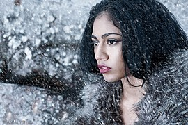 Kamilla Mohammad model & actor. Photoshoot of model Kamilla Mohammad demonstrating Face Modeling.Face Modeling Photo #78631