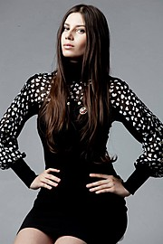 Karina Dunaeva model. Photoshoot of model Karina Dunaeva demonstrating Fashion Modeling.Fashion Modeling Photo #112675