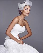 Karina Flores model (modelo). Photoshoot of model Karina Flores demonstrating Fashion Modeling.Wedding Gown,VeilFashion Modeling Photo #170277