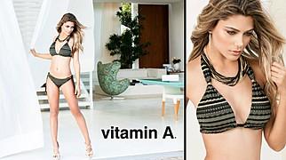 Karina Flores model (modelo). Photoshoot of model Karina Flores demonstrating Body Modeling.SwimwearBody Modeling Photo #89185