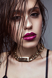 Katerina Karadimas model. Photoshoot of model Katerina Karadimas demonstrating Face Modeling.Face Modeling Photo #135116